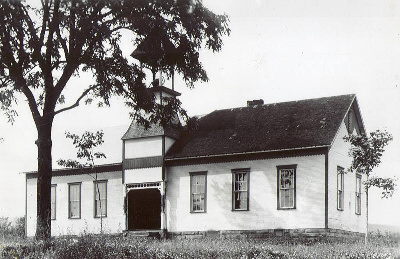Old School Building with Addition
